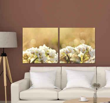 漂亮的白花图片画布-您可以在家里,办公室,公司,水疗中心和其他任何空间装饰此画布。