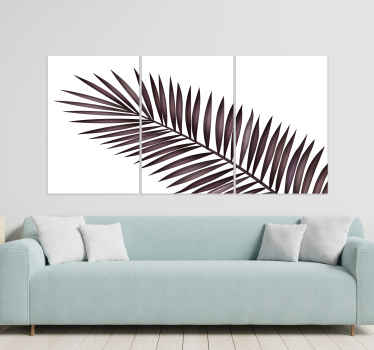 Palm leaves canvas pictures for living room - Give that elegant look on your home space or any other space with our canvas.