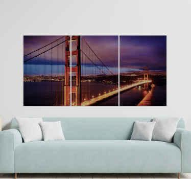Imagínese viendo la vista del puente de san francisco todos los días en su lugar solo desde este cuadro ciudades del Golden Gate al atardecer