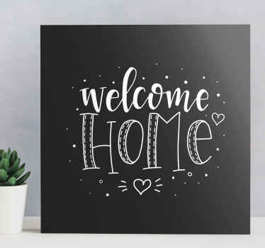 Welcome home entrance hall canvas art - You can have it placed on any other common space you love and best fitting for it in your home.