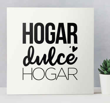 """Dé la bienvenida a los visitantes e invitados a su hogar con este hermoso y elegante cuadro para entrada con frase """"hogar dulce hogar"""" ¡Envío exprés!"""
