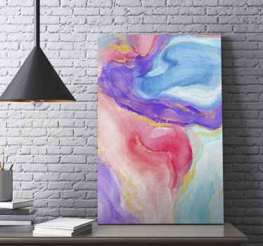 一种用于办公室和其他空间装饰的多色抽象绘画画布艺术。创造出不均匀的图案绘画的幻觉。