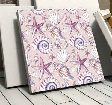 Sea Life Sea life canvas prints - Very lovely and soothing to enhance the look on your space. Contains design of  snails, oysters, starfish and more.