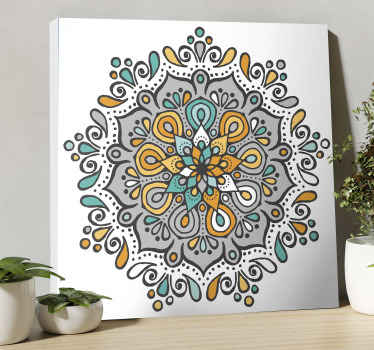 An elegant ornamental mandala canvas print - Place this on any part of your home and see how it would change the look on the space.