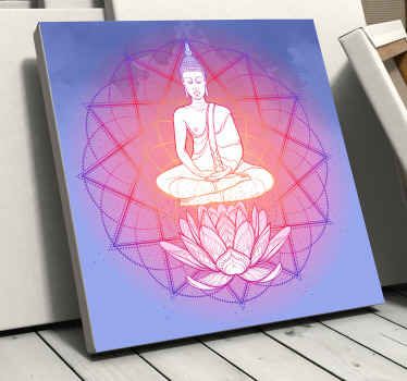 Buddha meditating mandala canvas art - This can be decorated on a meditation space or room.  Made of quality material and durble.