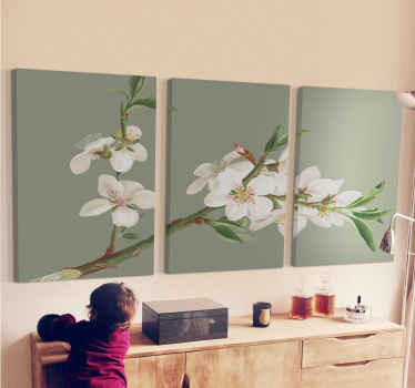 Very beautiful and colorful Almond branches home canvas wall art perfect for  everywhere you would like to have it!