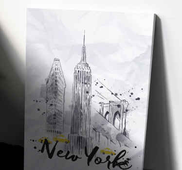 Skyline New York canvas pictures for hallway - Pretty for any space, it can be placed on common space and for interior areas.