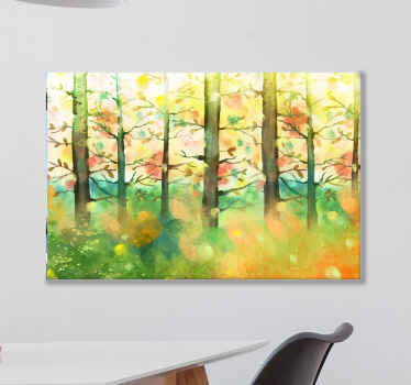All of your friends and family will be so jealous of your brand new piece of decor with this cute multicolor tree canvas print product! Buy now!