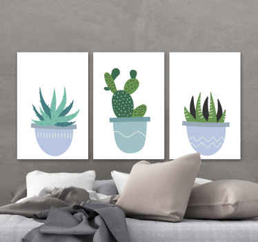 A very cool decorative nordic cactus canvas print product that will really give your home more light! Purchase this wonderful product now!