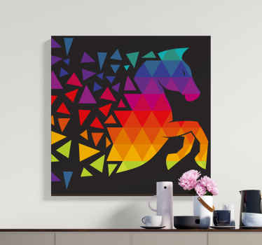 All of your friends and family will be so jealous of your brand new piece of decor with this cool horse canvas print product! Buy this now!
