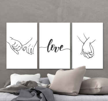 This love hands canvas print would be a great idea to hang on couple's bedroom as a headboard canvas print. Original and durable.
