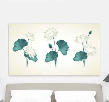 Lotus flower canvas print that can be decorated on bedroom space, living room and any other space in a house and also for an office.