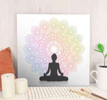 Our rainbow yoga mandala canvas wall art is what you need to decorate your meditation or yoga spot for concentration. Original nd durable.