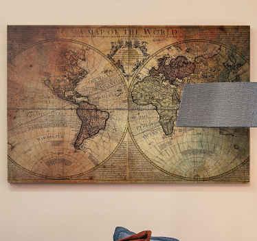 Bir ofis ve iş alanı gibi bir ofis alanını dekore etmek güzel olurdu antik stil dünya haritası tuval tasarımı. Orijinal ve dayanıklı.