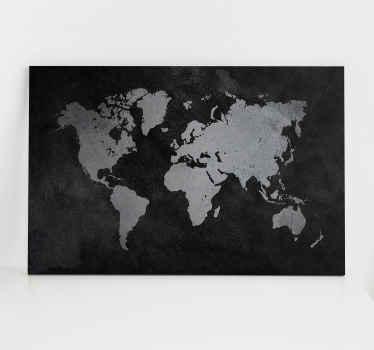 Dünya haritası tuvalinin boyutu, gösterileceği alana mükemmel bir şekilde uyarlanmalıdır. Dünya haritasının boyutunu seçin.