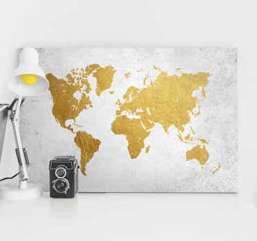 Bir dünya gezgininin ruhunu hissediyor musun? Geniş dekoratif dünya haritası kanvası seçeneklerimizle kendinizi gezegende bir fon olarak değerlendirin.