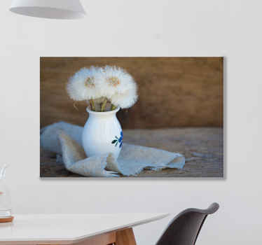 Löwenzahn auf topf leinwand kunst für esszimmer, wohnzimmer, schlafzimmer und andere raumdekoration. Es ist original und langlebig.