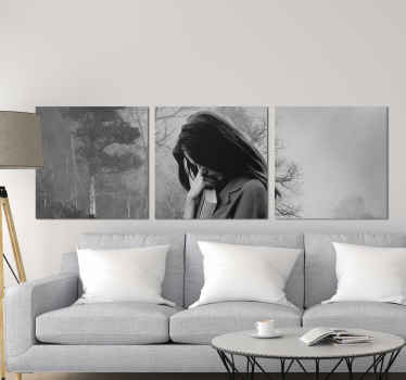 Woman figure on the side people canvas print - A canvas for lovers of portrait art! perfect for living room and other common spaces.