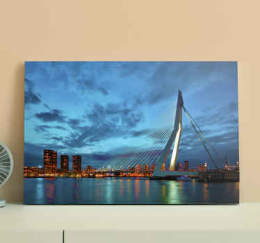 Rotterdam skyline city canvas prints to decorate any space you want.  It is easy to hang on wall, highly durable and original.