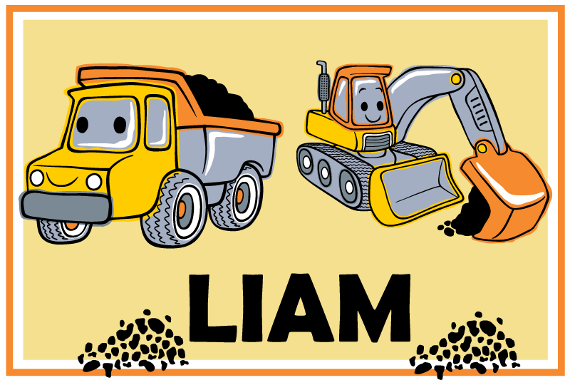 TenStickers. Navn med lastbiler, der kan tilpasses lærredstryk. Den perfekte brugerdefinerede lastbil-kunst til din dejlige lille mand! Med +10. 000 tilfredse kunder er du i sikre hænder.