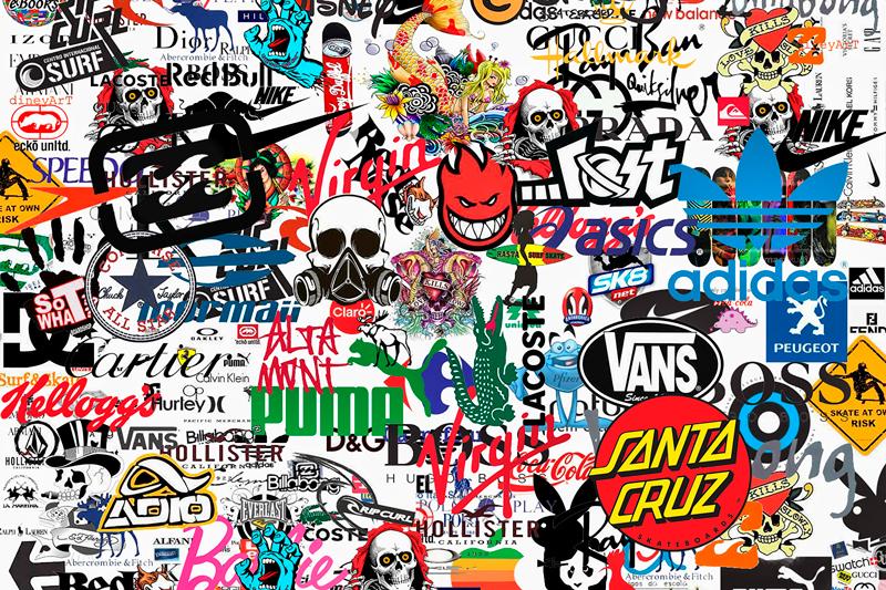 Tenstickers. Berømte logo moderne kunsttrykk på lerret. Moderne lerretstrykk som har logoene til forskjellige merker, inkludert puma, varebiler, hollister og prada, så vel som så mange flere!