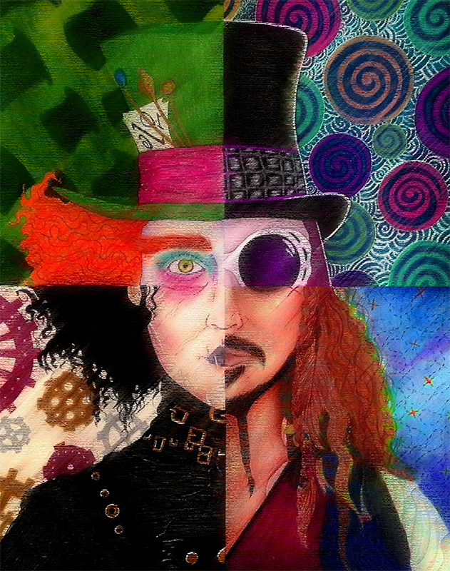 TenStickers. Johnny Depp character canvas. This article introduces the one and only character and actor in this successful role. The perfect product for your home !