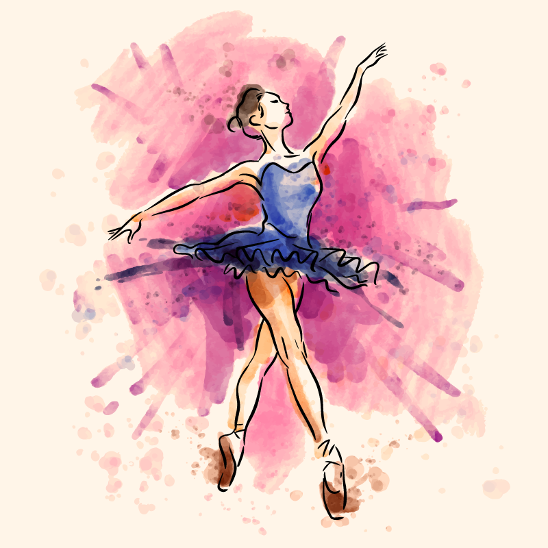 TenStickers. Purple Ballerina  canvas wall art. Let your passion for classical dance flourish with this wall art canvas is made for you! This canvas will look amazing in any room!