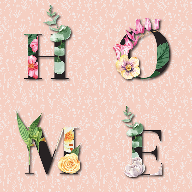 TenStickers. elegantes flores home sophisticated canvas prints. This stunning floral text canvas wall art will be the best treat for your home. Choose your size and finish for an amazing product.