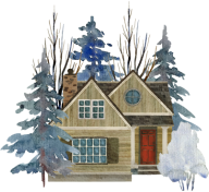 TenStickers. Rustic style rustic canvas wall art. This beautiful house illustration rustic canvas art is suitable to decorate any part of a house. It can be placed on a living room, bedroom, etc.