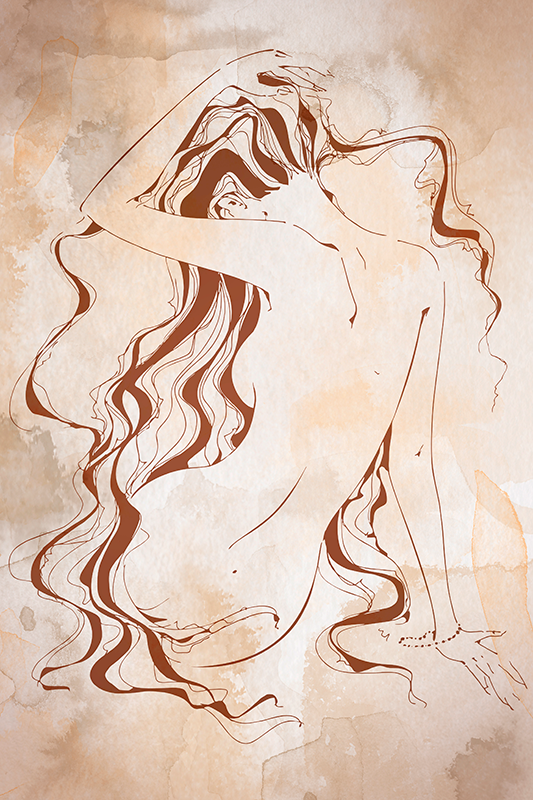 TenStickers. Modern toilet paper Bathroom wall art canvas. Bathroom wall canvas displaying drawing art of a sexy woman.  The design texture depicts a vintage style, printed in quality finish and durable.
