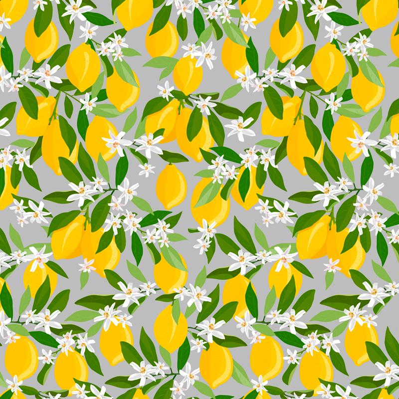 Tenstickers. Sitruunapuu kuvio hedelmäcanvas. Kaunis sitruunahedelmäinen kangas taide kodin ja toimiston sisustamiseen. Kuinka mahtavaa tilasi olisi tämän suloisen näköisen sitrushedelmien kangasjulisteella.