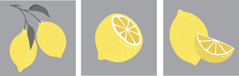 TenStickers. Tropical Lemon fruit canvas art. Looking for something unique and lovely to decorate your home in style. this amazing tropical lemon fruit canvas would do the magic.