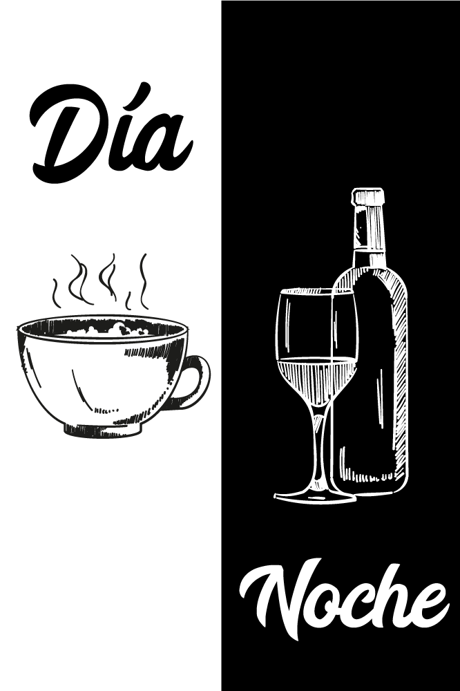 TenStickers. Funny black and white Kitchen canvas art. Coffee and wine drink canvas art to add a lovely elegant look on your kitchen space. Our canvas are manufactured with quality material and finish.