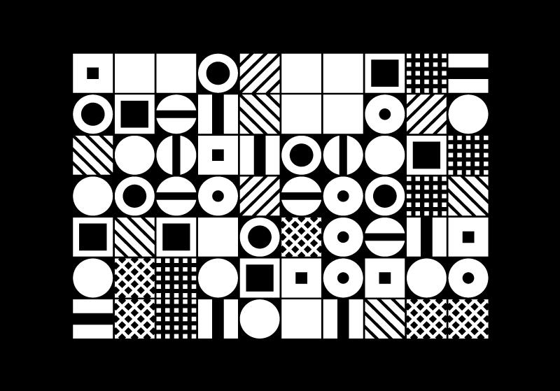 Tenstickers. Mustavalkoinen geometria canvastaulu toimistoon. Moderni kangas taidepainos abstraktien hahmojen ystäville. Tämä kangas on ihana ja koristaa tilasi ripaus taidetta.