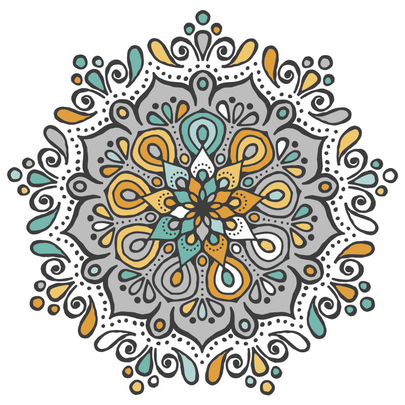 TenStickers. Mandala colorful with print wall art. An elegant ornamental mandala canvas print - Place this on any part of your home and see how it would change the look on the space.