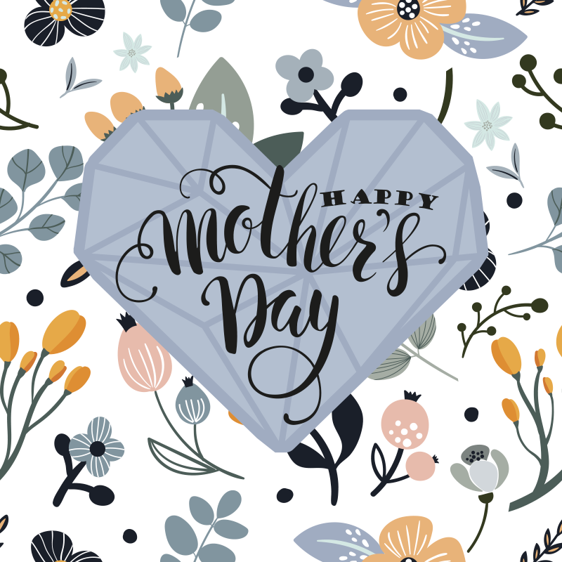 TenStickers. Happy Mother's Day Mother's day wall art canvas. Beautiful mothers' day canvas art for your home and other space decoration.  Wish mothers very well on their special day celebration with this canvas.