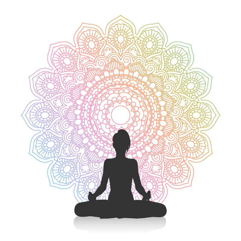 TenStickers. Rainbow yoga mandala print wall art. Our rainbow yoga mandala canvas wall art is what you need to decorate your meditation or yoga spot for concentration. Original nd durable.
