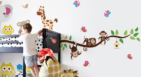 Adesivos decorativos infantis