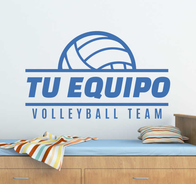 TenVinilo. Pegatinas personalizables de volley. Vinilos decorativos personalizables con el nombre de tu equipo favorito de volleyball o del equipo donde practicas este movido y apasionante deporte.