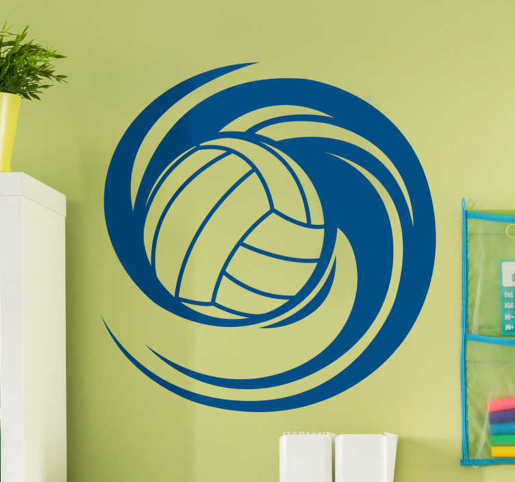Wandtattoo rotierender Volleyball