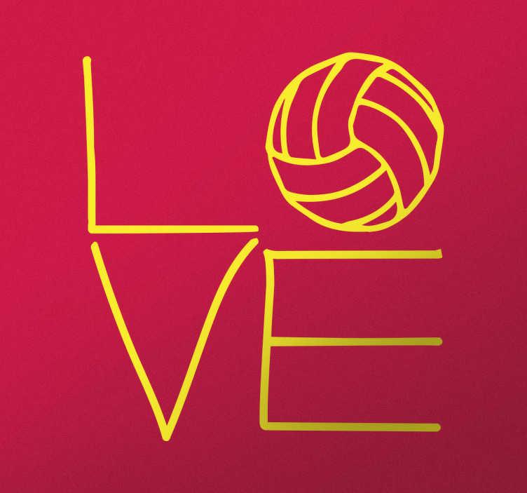 Naklejka I Love volleyball