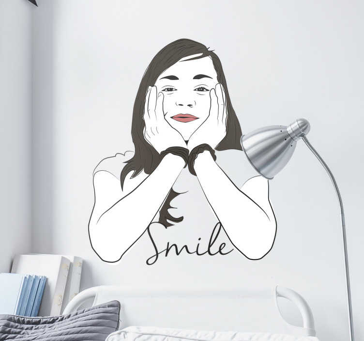 Vinilo decorativo retrato smile
