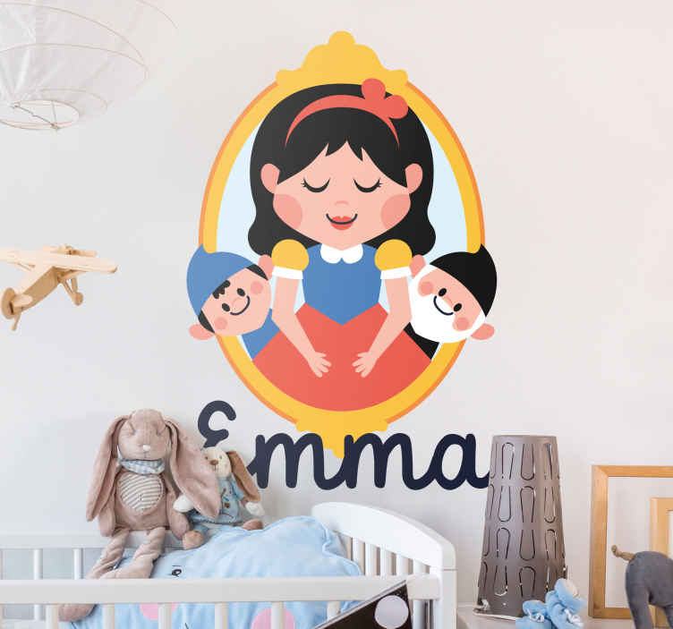 TenStickers. Snow White Portrait Children's Sticker. If you're looking for the perfect way to decorate your child's room, look no further than this children's decorative wall vinyl