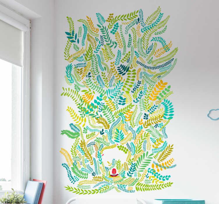 Sticker feuilles de couleurs