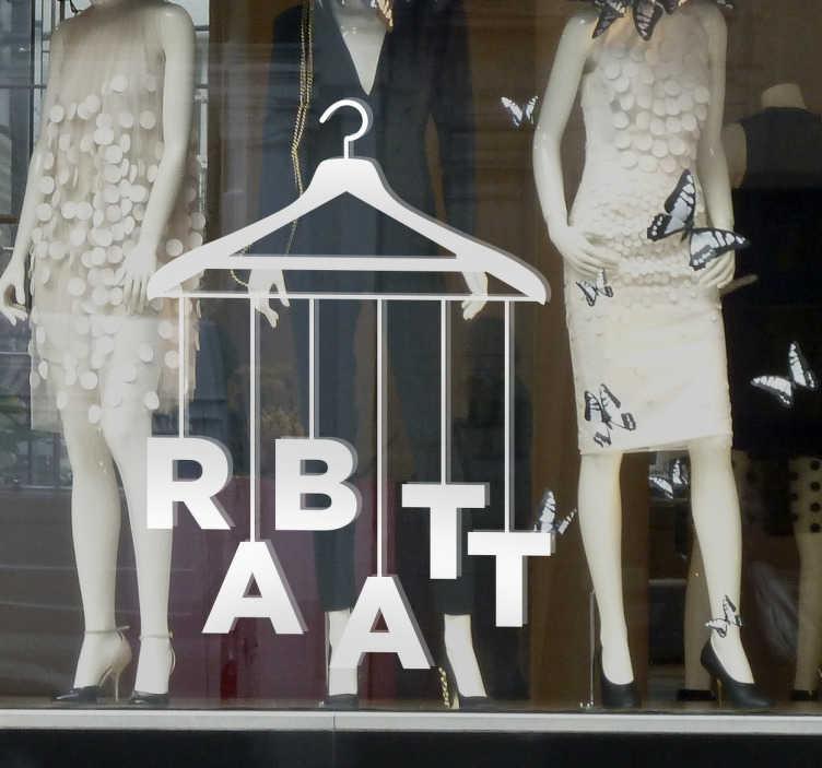 Schaufensteraufkleber Rabatt Kleiderbügel