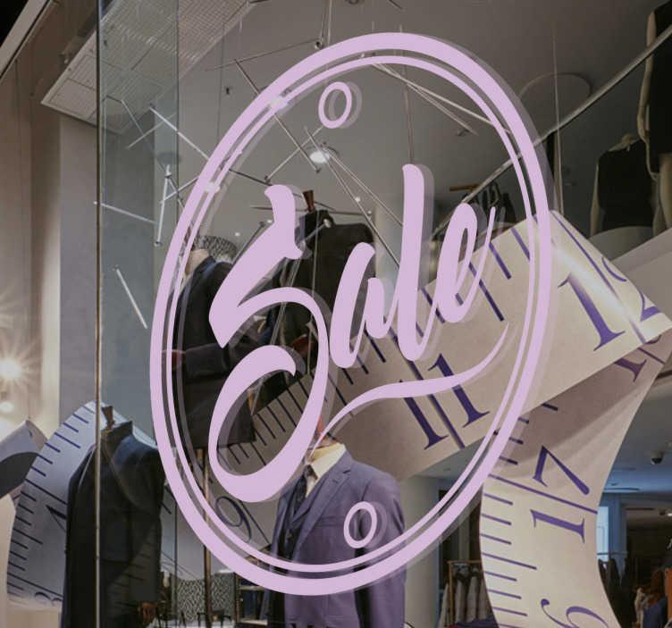 TenStickers. Muursticker aanbieding cirkel Sale. Muursticker speciaal ter promotie van een aanbieding met in een cirkel het woord Sale bedrukt, leuk ter promotie van uw winkel.