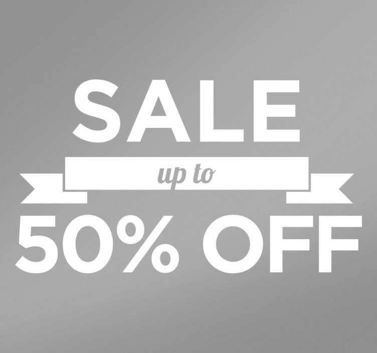 Schaufensteraufkleber Sale 50% Off
