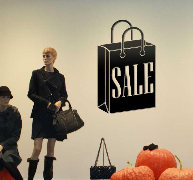 TenStickers. Naklejka Sale. Naklejka dekoracyjna prezentująca torbę z napisem ' SALE'.