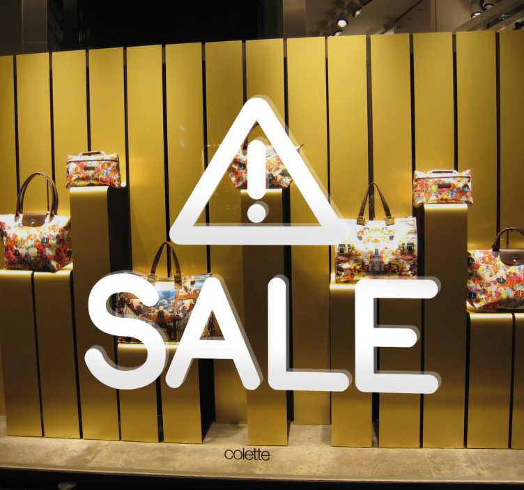 Schaufensteraufkleber Achtung Sale