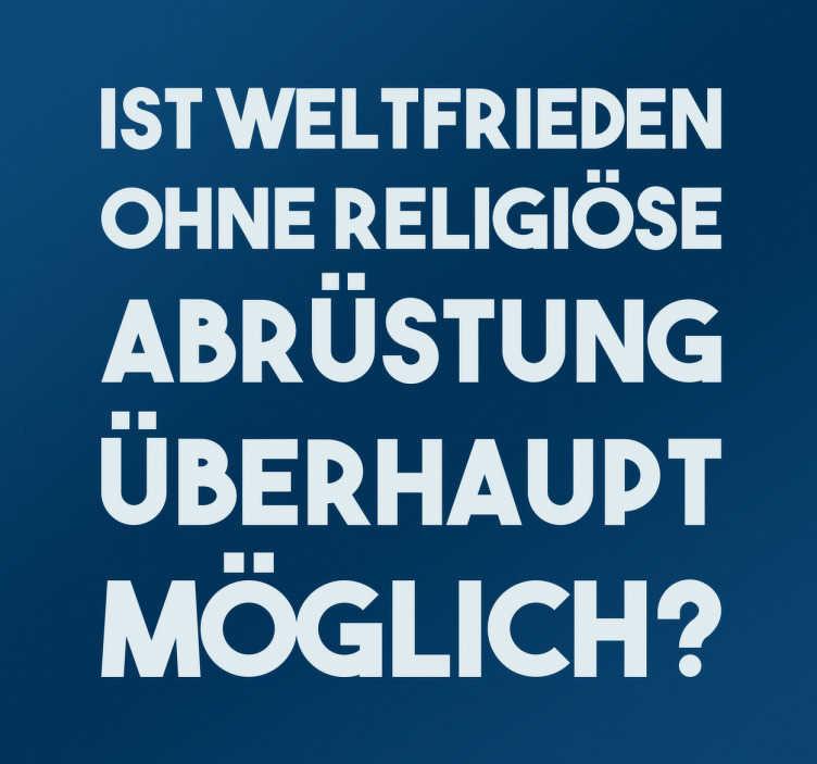 Wandtattoo Religiöse Abrüstung für Weltfrieden